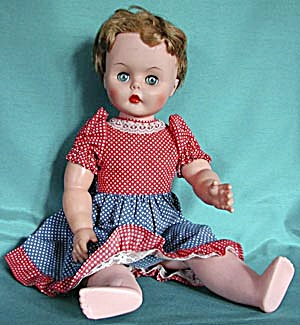 "Vintage Hard Plastic 24"" Tall Doll"