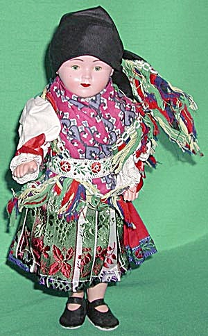 Vintage Czech Doll In Traditional Dress