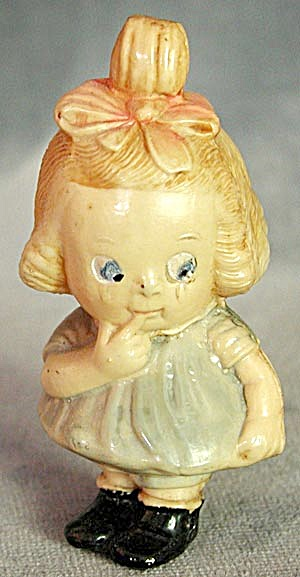 "Vintage 3 1/4"" Celluloid Doll"