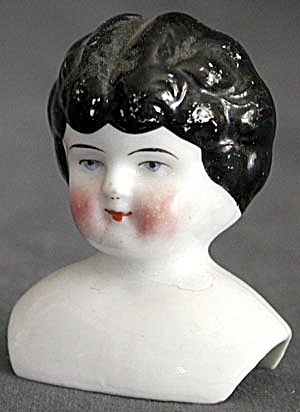 Antique China Low Brow Doll Head (Image1)