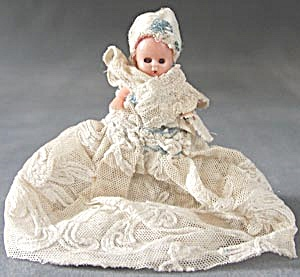 Vintage Tiny Plastic Doll with Sleep Eyes (Image1)