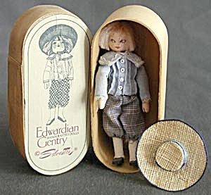 Vintage Miniature Wooden Jointed Handcrafted Doll