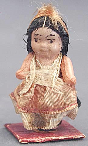 Vintage Tiny Celluloid Indian Doll