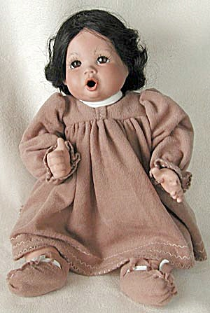 Designer Porcelain American Indian Baby Doll (Image1)