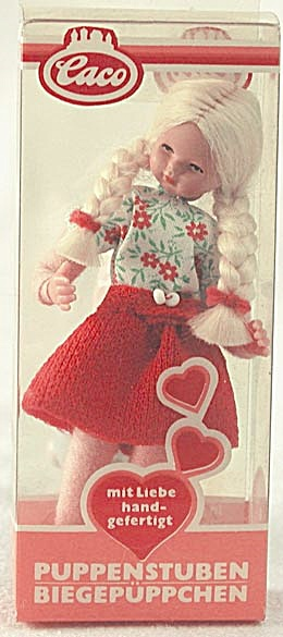 Vintage Dollhouse Girl Doll in Original Box (Image1)