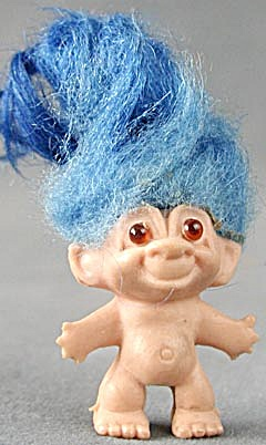 Vintage Pencil Top Blue Hair Troll (Image1)