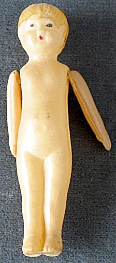 Vintage Celluloid Moveable Arms Doll
