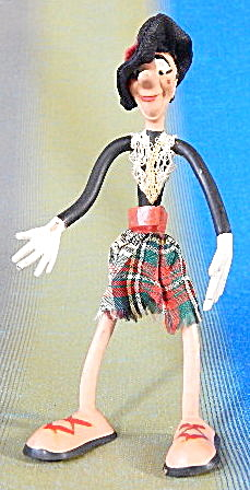 Vintage Schleich West Germany Bendy Figure Scot