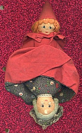 Topsy/turvy Doll Little Red Riding Hood/grandmother/wol
