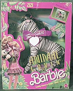 1988 Animal Lovin Barbie Pet Zizi Zebra (Image1)