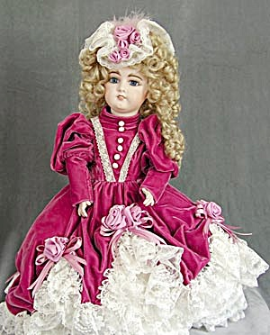 Designer Doll Rose Velvet Dress