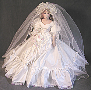 "Designer 23"" Bisque Bride Doll"