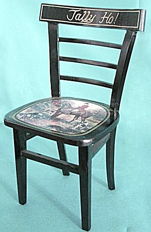 Wooden Painted Hunting Doll Chair (Image1)