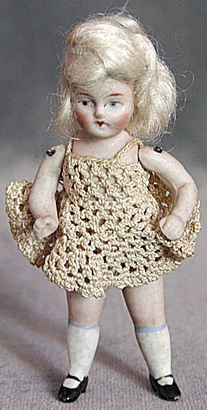Antique German Small Jointed Doll (Image1)