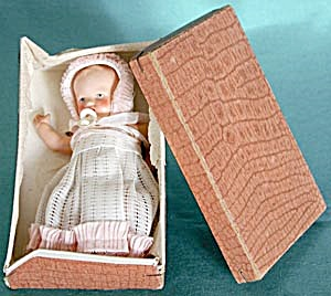 Vintage German Baby Doll With Celluloid Pacifier