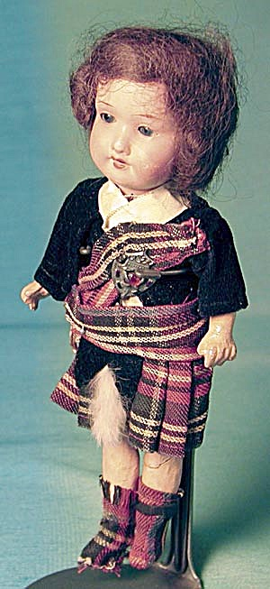 Antique Scottish Armand Marseille Bisque Doll