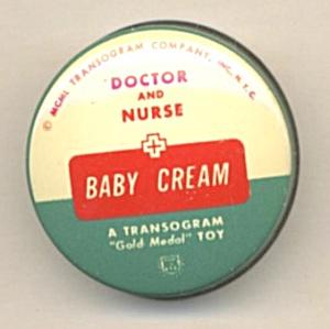 Vintage Doctors and Nurses Baby Cream & Powder Tin (Image1)