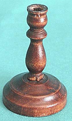 Vintage Miniature Wooden Candlestick (Image1)