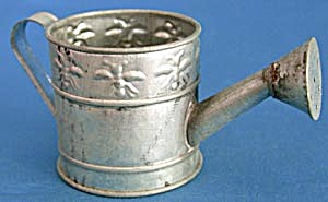 Tin Watering Can With Embossed Bees