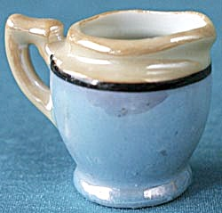 Vintage Dollhouse Blue Luster Mini Pitcher (Image1)