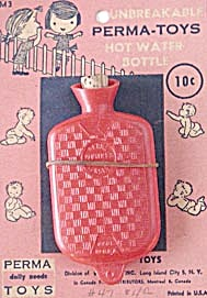 Vintage Doll Hot Water Bottle On Card