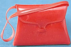 Vintage Red Purse For Doll (Image1)