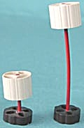 Vintage Dollhouse Plastic Table & Floor Lamp (Image1)