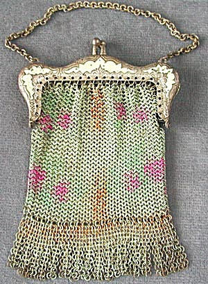 Small Dresden Mesh Purse With Decorated Frame