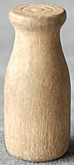Vintage Mini Wood Milk Bottle (Image1)