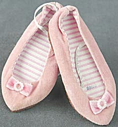Vintage Chatty Cathy Pink Velvet Shoes