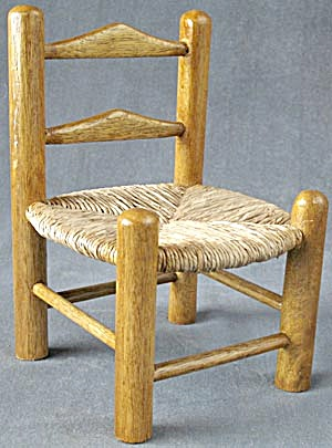 Wooden Doll Chair with Woven Seat (Image1)