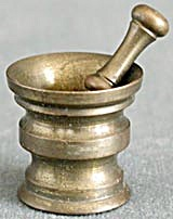 Vintage Brass Doll's Mortar & Pestle (Image1)