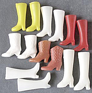 Vintage Doll Boots 7 Pairs (Image1)