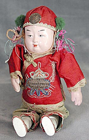 Vintage Doll: 1932 Paper Mache China Boy (Image1)
