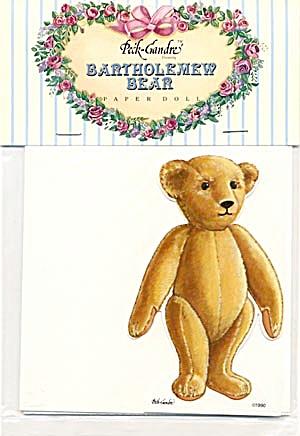 Peck-Gandre: Bartholemew Teddy Bear Paper Doll (Image1)