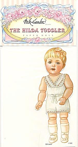 Peck-Gandre: Hilda Toddler Paper Doll (Image1)