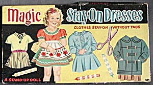 Whitman Magic Stay-on-dresses Paper Doll Set