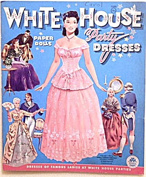 Vintage 1961 White House Party Dresses Paper Dolls