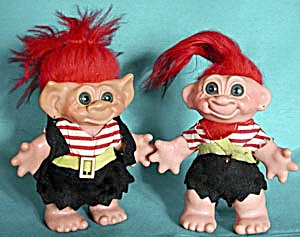 Vintage Dam Troll Boy And Girl Pirate Banks