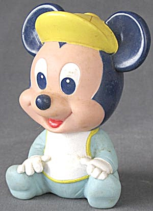 Vintage Disney Baby Mickey Mouse Squeak Toy (Image1)