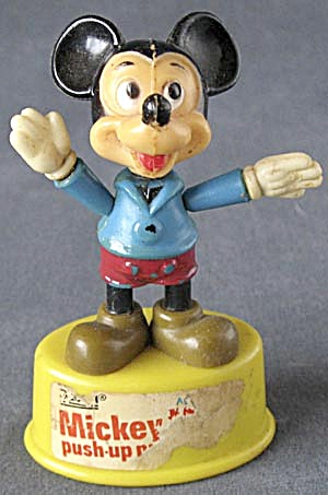 Vintage Mickey Mouse Push Up Puppet