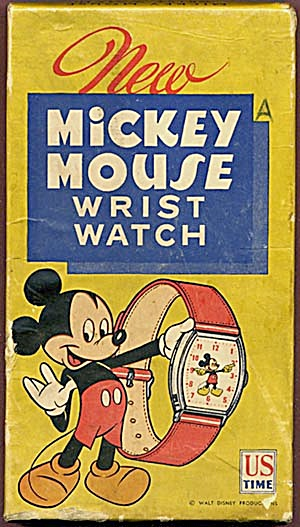 Vintage Mickey Mouse Watch Box
