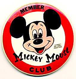 Mickey Mouse Club Member Button/pin Walt Disney