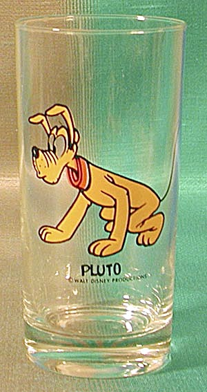 Vintage Walt Disney's Pluto Character Glass (Image1)