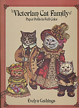 Victorian Cat Family Paper Dolls In Full Color