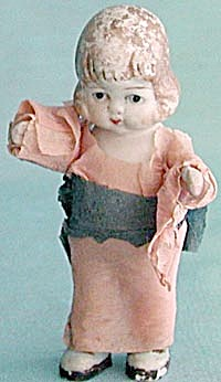 Vintage Penny Doll With Tissue Paper Dress