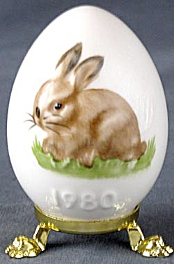 Vintage Goebel Bunny Easter Egg On Stand