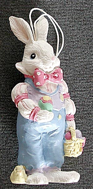 Resin Boy Bunny Ornament (Image1)