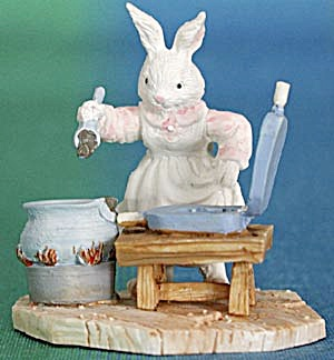 Rabbit Making Chocolate Bunnies Figurine (Image1)