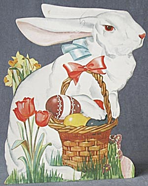 Vintage Cardboard Bunny Rabbit Decoration (Image1)